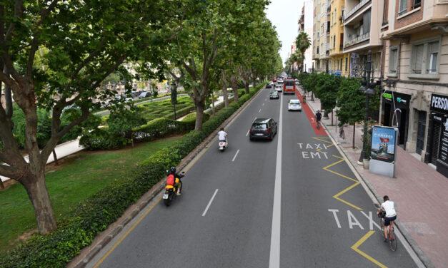 Comienzan las obras del eje ciclista que discurrirá  por las Grandes Vías Fernando el Católico y Ramón y Cajal