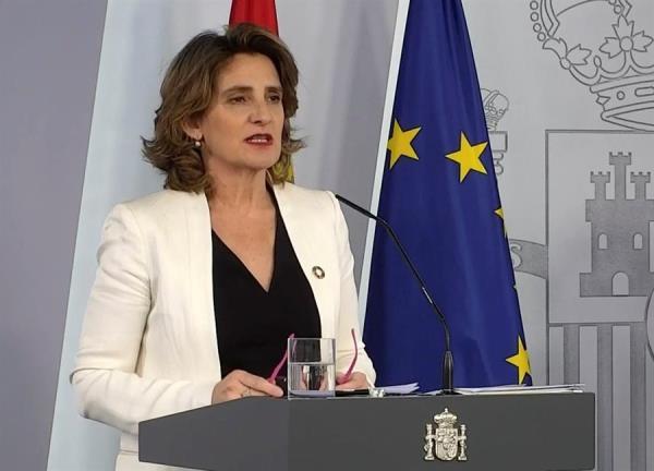 La ministra Teresa Ribera durante su comparecencia. Foto: EFE