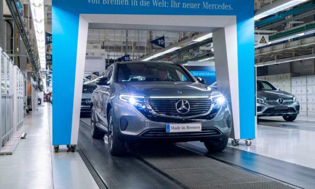 Comienza la producción del Mercedes-Benz EQC 400, que llegará en verano