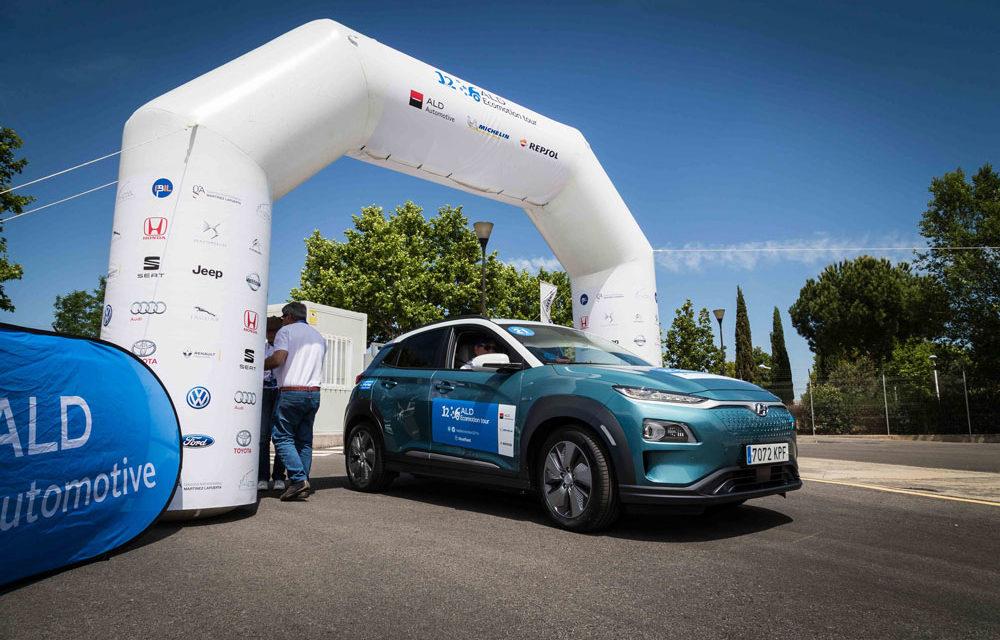 El Hyndai Kona EV, ganador del ALD Ecomotion Tour