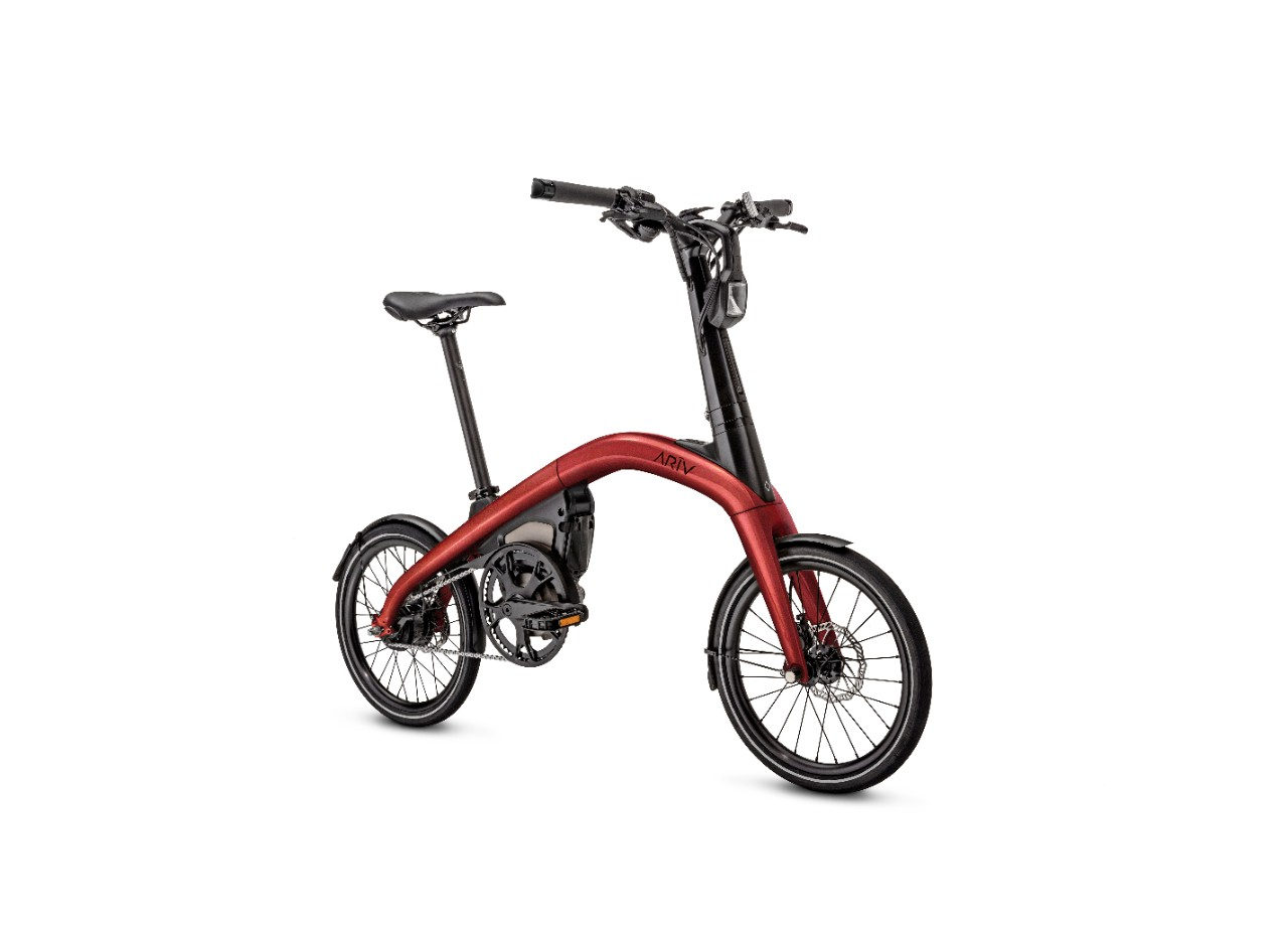 The ARĪV Merge (pictured) is a folding eBike that can be pre-or