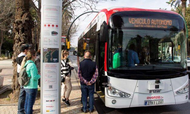 El primer autobús sin conductor en Europa comienza operar en Málaga