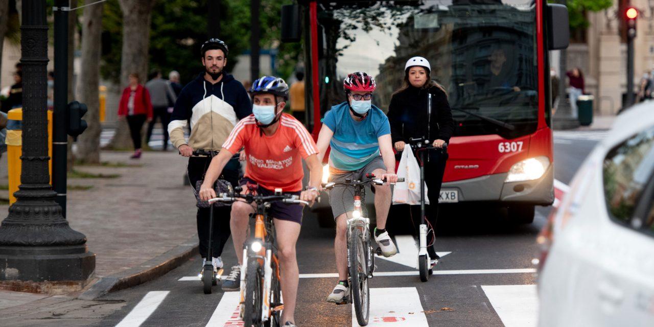 El tráfico disminuye un 70% en el centro de València con las medidas de 'pacificación' de la movilidad