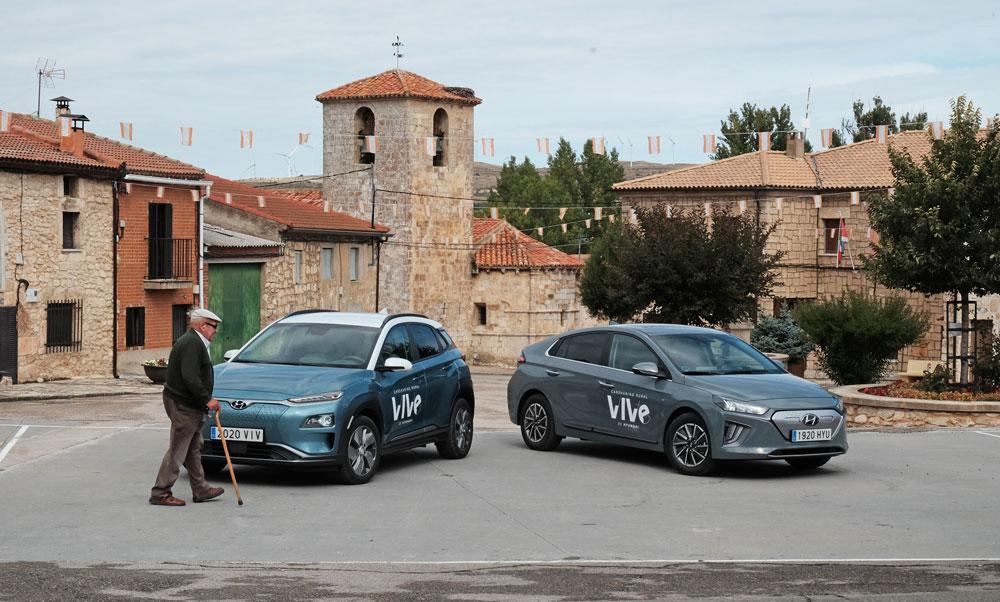 Hyundai lanza el primer servicio de 'carsharing' rural 100% eléctrico