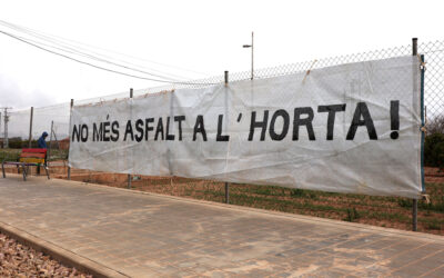 El proyecto de rotondas en el Camino de Moncada suscita las protestas vecinales