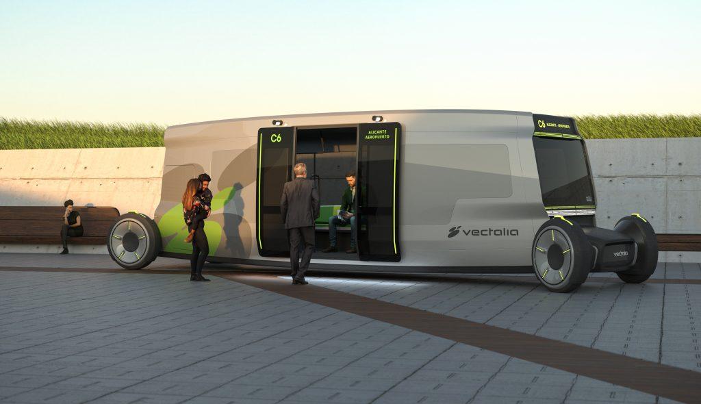 Vectalia, finalista en los Design Award 2021 con un autobús autónomo
