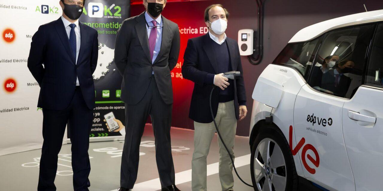 APK2 y EDP despliegan una red de recarga eléctrica en aparcamientos públicos