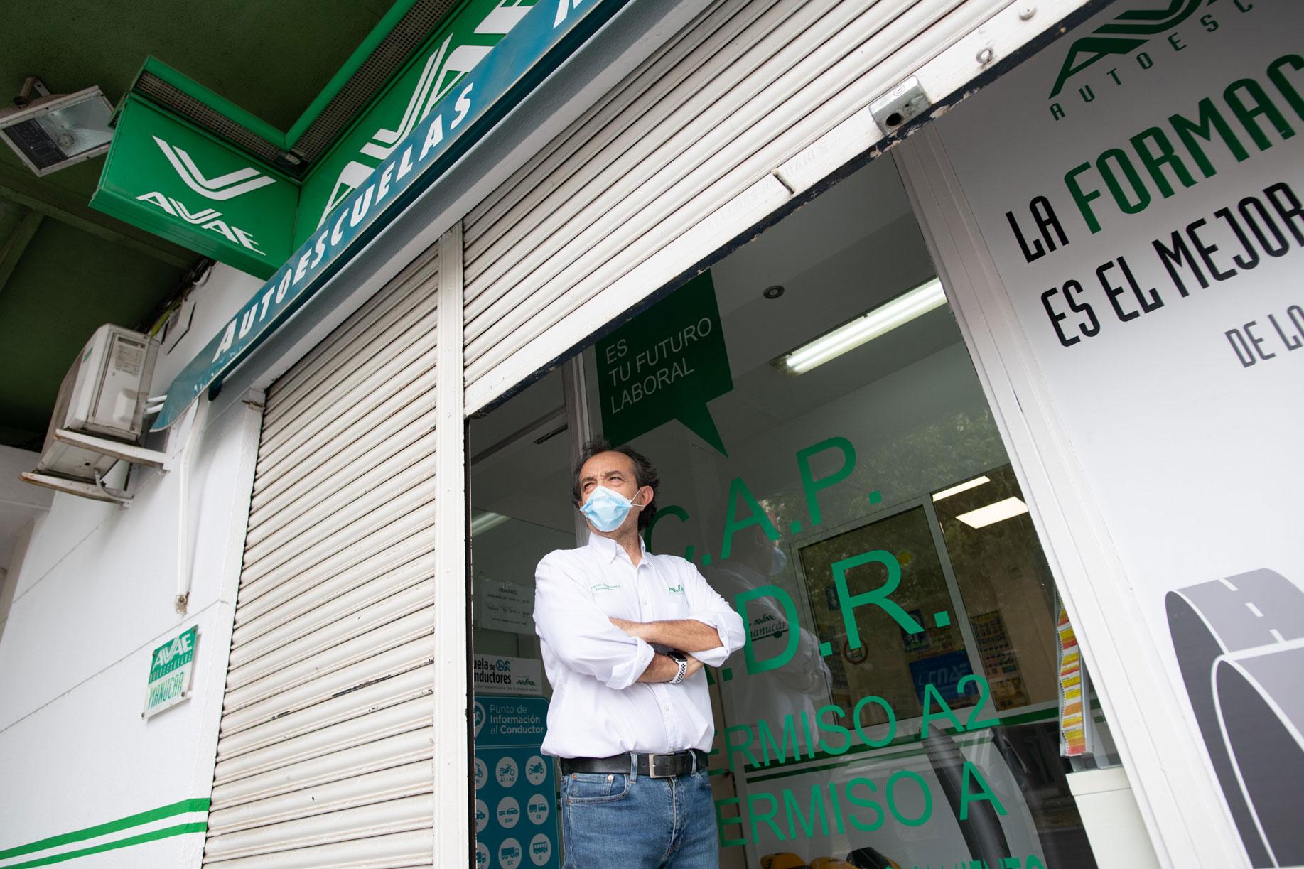 Manolo Cáceres, vicepresidente de la Asociación Valenciana de Autoescuelas (Avae)