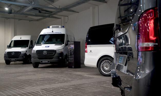 Mercedes-Benz ofrece cuatro furgonetas 100 % eléctricas en su gama comercial