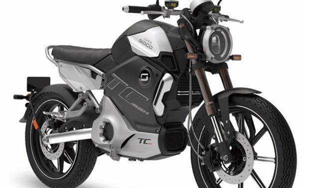 Super SOCO presenta su motocicleta eléctrica TC MAX
